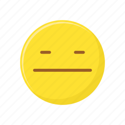 bored, character, emoticon, expression, face, straight face icon