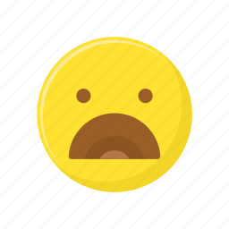 character, emoticon, expression, face, surprised icon