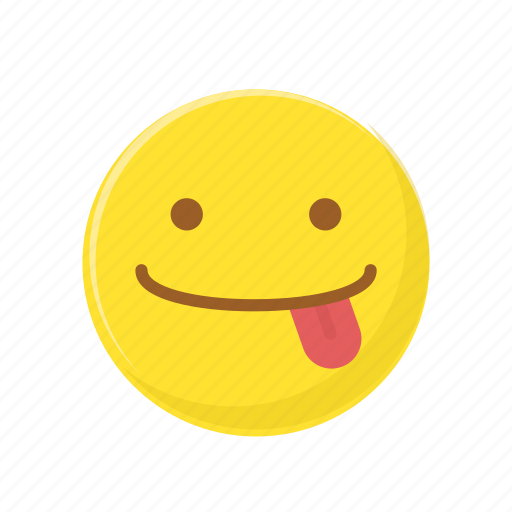 character, emoticon, expression, face, tongue out icon