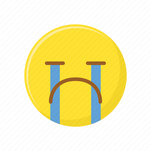 character, cry, emoticon, expression, face, sad icon