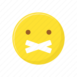 character, emoticon, expression, face, lips sealed icon