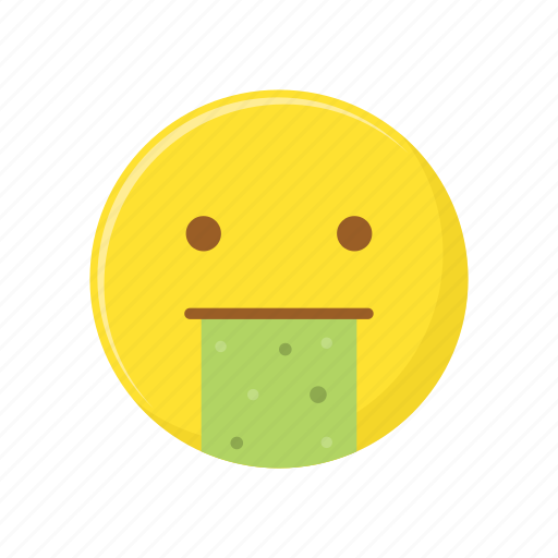 character, emoticon, expression, face, puke icon