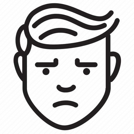 avatar, face, feelings, irritated, male icon