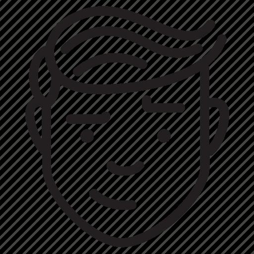 avatar, face, feelings, male, sceptic icon