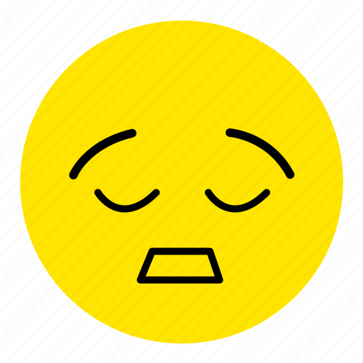 emoticon, emotional expression, emotions, expression, sleep, tired, unhappy icon