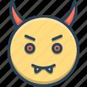 beelzebub, belial, demon, devil, evil, fiend, satan icon