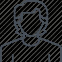 avatar, long hair, male, man, picture, portrait, profile icon