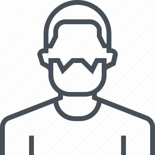 avatar, beard, male, man, picture, portrait, profile icon