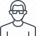 avatar, glasses, male, man, picture, portrait, profile icon