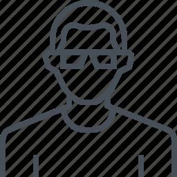 avatar, glasses, male, man, picture, portrait, profile icon