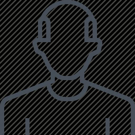 avatar, bald, male, man, picture, portrait, profile icon