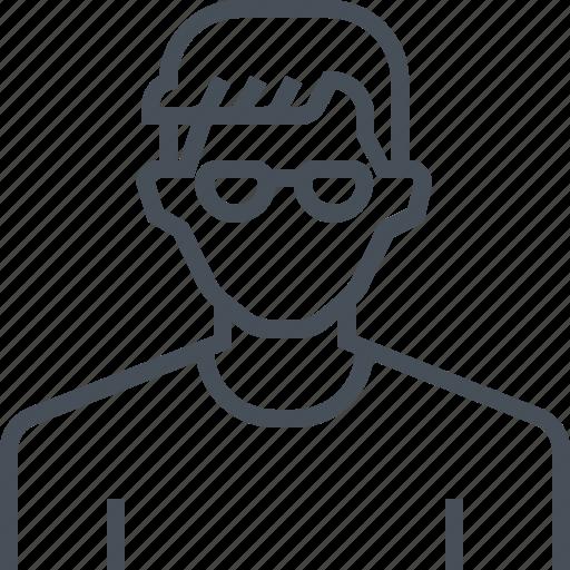 Profile, picture, avatar, man, portrait, male, glasses icon