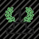 award, badge, first win, medal, medallion, position