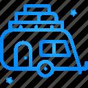 traveling, van, caravan, camper, transport
