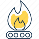 burner, fire, flaming, gas, heating, hot, kitchen icon