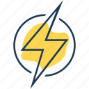 bolt, charge, electricity, flash, lightning, power, source icon