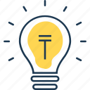 bulb, electric, electricity, idea, lamp, light, lighting icon
