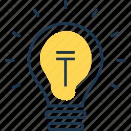 bulb, electric, electricity, idea, lamp, light, lighting icon