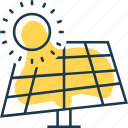 electricity, energy, panel, power, solar, sun, water icon