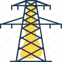 electricity, energy, heating, line, power, tower, transmission icon