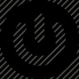 circle, power icon