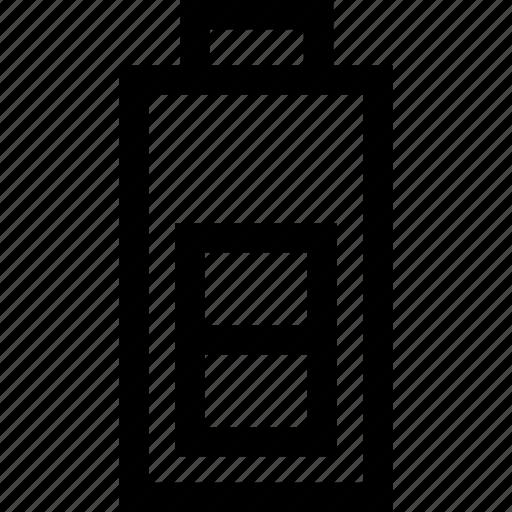 battery, level, medium, status icon