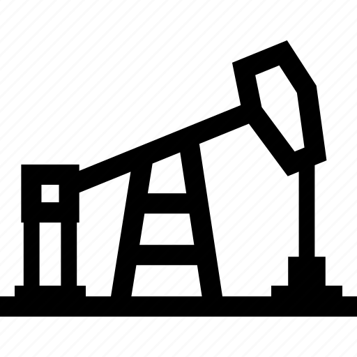 derrick, oil, pumpjack, rig, well icon