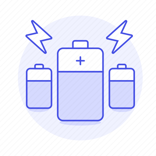 accumulator, battery, device, electricity, energy, flash, power, storage, supplier, thunderbolt icon