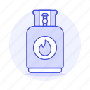 canister, cook, cooking, cylinder, energy, fossil, gas, kitchen, tank icon