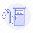 combustible, energy, fuel, gas, gasoline, green, petrol, pump, station icon