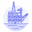 drilling, energy, fossil, gas, natural, ocean, offshore, oil, petroleum, platform, well icon