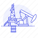 beam, energy, fossil, gas, jack, natural, oil, petroleum, pump, pumping, walking, well icon