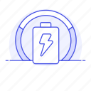 battery, charged, chart, electricity, energy, graph, pie, power, usage icon