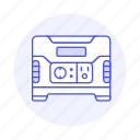 accumulator, battery, device, energy, green, power, rechargable, storage, supply icon