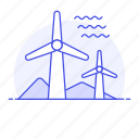 2, converter, energy, farm, green, mill, power, renewable, station, sustainable, turbine, wind icon