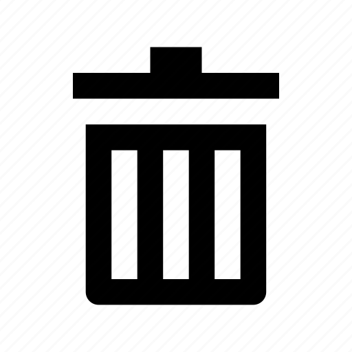ashcan, dustbin, garbage can, trash can, waste bin icon