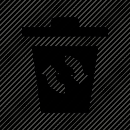 ashcan, garbage can, recycle bin, trash can, waste bin icon