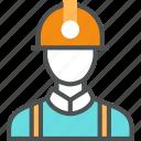 builder, engineer, helmet, job, man, miner, worker, workman