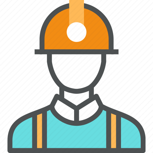 builder, engineer, helmet, job, man, miner, worker, workman icon