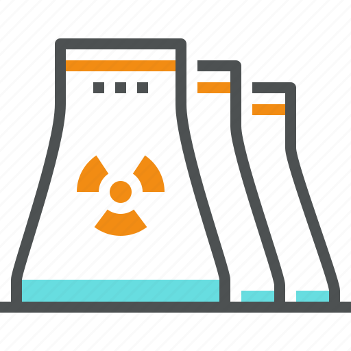 atomic, electricity, nuclear, plant, power, reactor, uranium icon