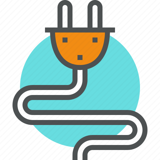 connection, current, electricity, energy, plug, power, source icon