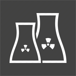 energy, industry, nuclear, plant, power, reactor, station icon