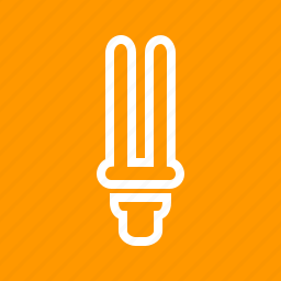 bulb, electric, energy saver, fluorescent, light, light bulb, power icon