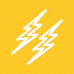 electric, energy, lightning, power, thunder, thunderstorm, weather icon