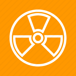 danger, energy, hazard, nuclear, physics, radiation, radioactive icon