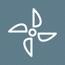electricity, energy, environmental, power, turbine, wind, windmill icon