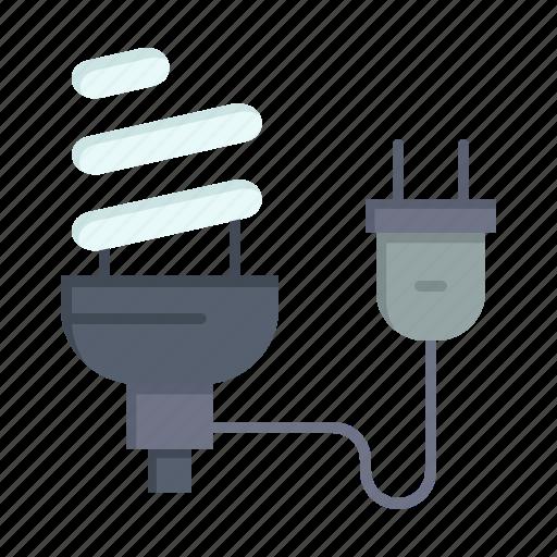 Bulb, economic, eletrical, energy, light, plug icon - Download on Iconfinder