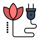 biomass, cable, energy, plug icon