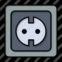 electrical, energy, plug, power, socket, supply icon