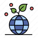 eco, friendly, globe, growth icon